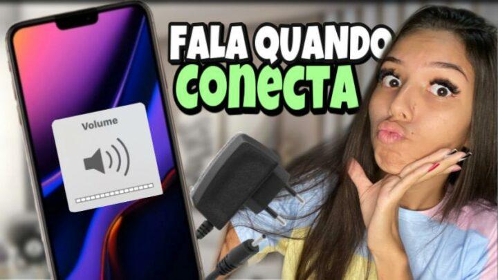 CELULAR FALA AO CONECTAR CARREGADOR | para Android